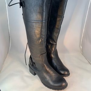 Bumper Tall Lace up Back Moto/Combat Style Boot